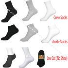 Wholesale Lots Men Solid Sports Cotton Crew Ankle Socks 3 COLORS SIZE 9-11 10-13