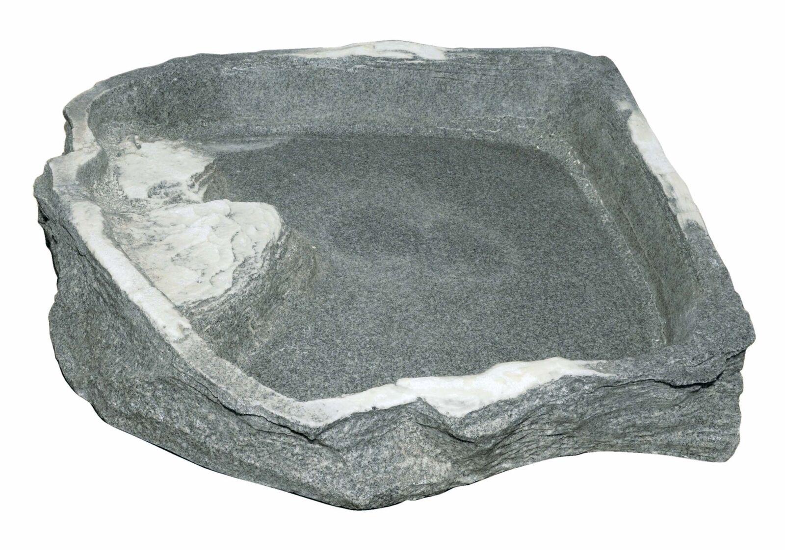 Eck- Futterschale   Wasserschale in Felsobtik - Farbe  Granite 43x40x8cm