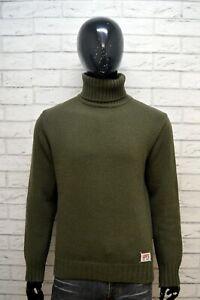 Maglione-Uomo-LEVI-039-S-Cardigan-Pullover-Lana-Collo-Alto-Taglia-M-Sweater-Man-Top