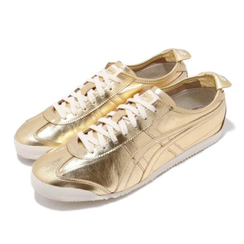 Asics Onitsuka Tiger Mexico 66 Gold White Men Running Shoes Sneakers D6G1L-9494