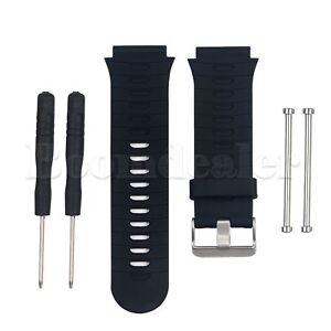 Silikon-Band-Schwarz-Armband-Uhrenarmband-Strap-fuer-Garmin-Forerunner-920XT-Uhr