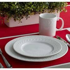 Pfaltzgraff 32-Piece Embossed White Dinnerware Set
