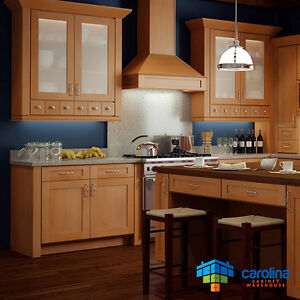 Wood Kitchen Cabinets, Gold Shaker Cabinets 10X10 RTA Cabinets FREE ...