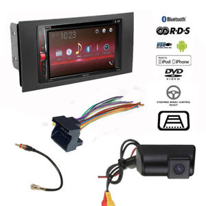 image is loading pioneer-double-din-usb-radio-backup-camera-ford-