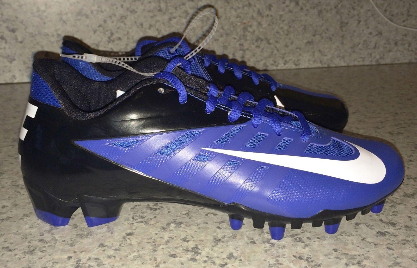 NIKE Vapor Pro Low TD Molded Football Cleats Black Royal bluee NEW Mens 11.5