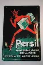 "3D Blechschild Persil 20x30 cm "" Teufel mit Päckchen ""  Tin Sign Enamel Metal"