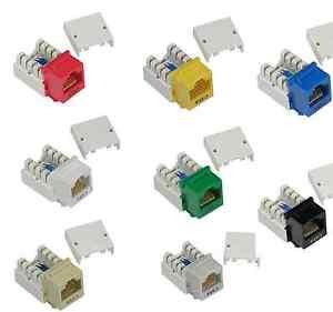 Cat6 Rj45 110 Punch Down Keystone Jack Wall Plate Network Plug Modular Cat 6 Ebay