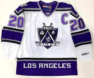 LUC-ROBITAILLE-LOS-ANGELES-KINGS-ORIGINAL-2000-CCM-WHITE-THIRD-JERSEY-LARGE