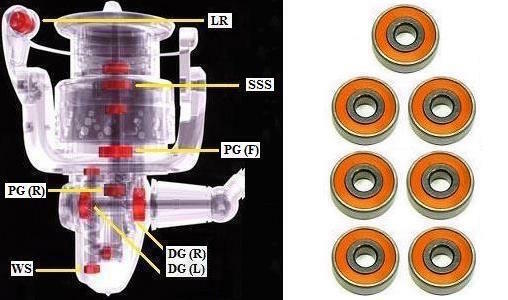 Shimano Céramique Super Réglage Ultegra CI4 10000XSA, 14000XSA
