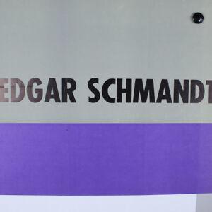 SCHMANDT-Edgar-Austellungs-Plakat-1966-Kunsthalle-Mannheim-Poster-60er-Jahre