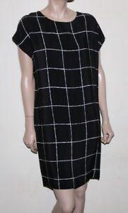 modernistische wit Zwart Vince jurk zijden Graphic S q1n7PWPtzZ