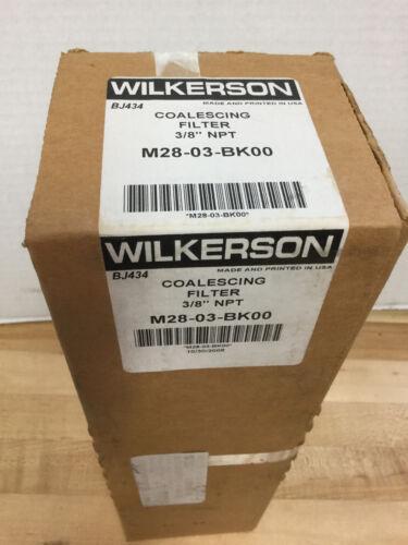 """WILKERSON M28-03-BK00 COALESCING FILTER 3//8/"""" NPT *NEW"""