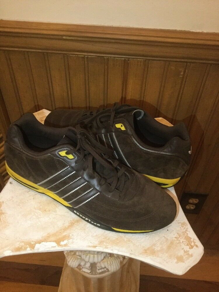 Adidas Rare Adi Racer Plus Goodyear Brown Suede Leather Trefoil Men US 11.5
