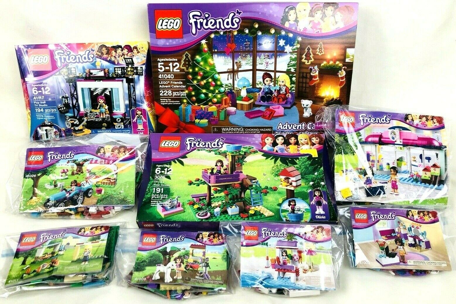 Lot of Lego Friends Complete Sets 41040 41117 3065 3065 3065 41007 41026 41009 41003 41028 870661