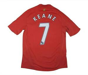 Liverpool 2008-10 ORIGINALE Maglietta Keane #7 (eccellente) M SOCCER JERSEY