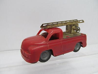 Spielzeug Mes-43686 Ältere Blech/kunstoff Feuerwehr Mit Friktionsantrieb L:ca.11cm