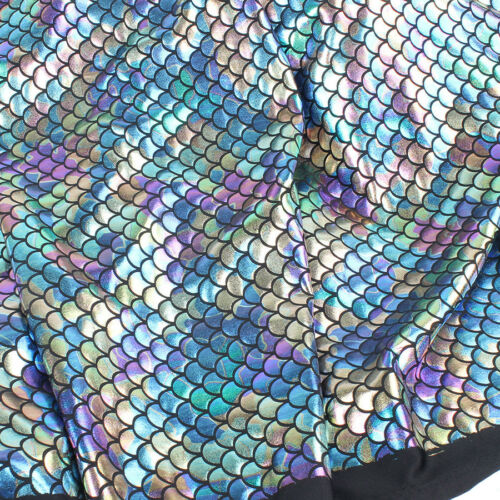 """Iridescent Scale Mermaid Fabric Hologram Spandex 2 Way Stretchy 60/"""" Wide by Yard"""