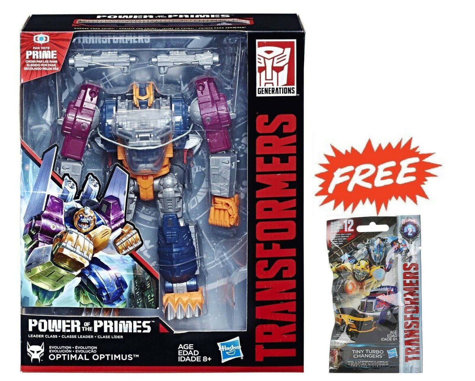 TRANSFORMERS POWER OF THE PRIMES LEADER EVOLUTION OPTIMAL PRIME + TINY TURBO 02