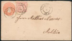 Meckl-Schwerin-Brief-U6-Mi-Nr-5-orig-gelaufen-Sternberg-nach-Malchin-feinst