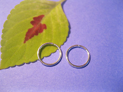 925 Sterling Silver 8 mm Infinity Nose Hoops hand made Silver Nose Hoops