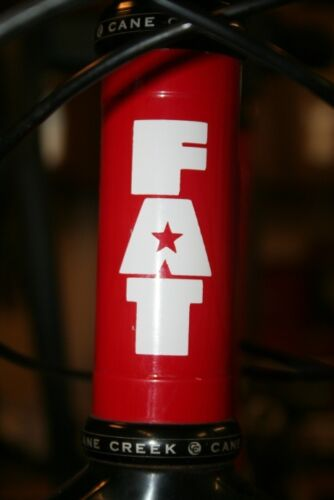 FAT CHANCE CYCLES bike frame head tube die-cut sticker Buy 2 get 1 FREE!