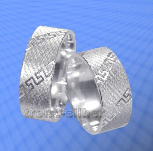 2 vere larga 8mm argentoo argentoo argentoo 925 incisione gratis j73x 7d569a