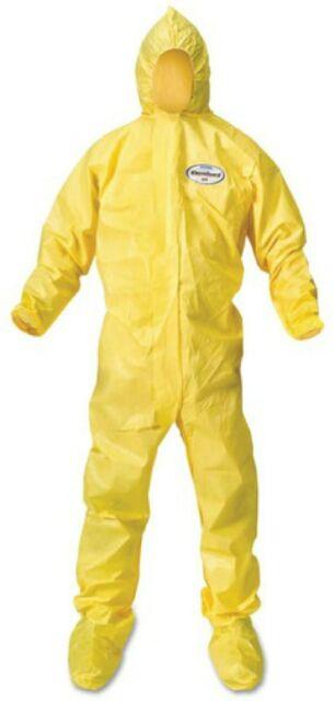 1 XL Kimberly Clark A70 PPE Chemical Biological Fluid Spray Protective Coverall