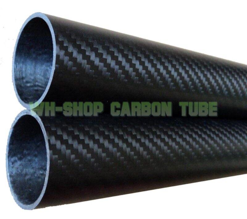 2 un. 60mm Od 57mm ID x 500MM 3K X de fibra de carbono ala Tubo Tubo Tubería 6057 Hazlo tú mismo
