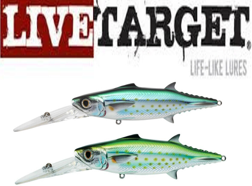 Livetarget spanish mackerel 140 trolling bait 5 1 2 for Live fishing bait near me