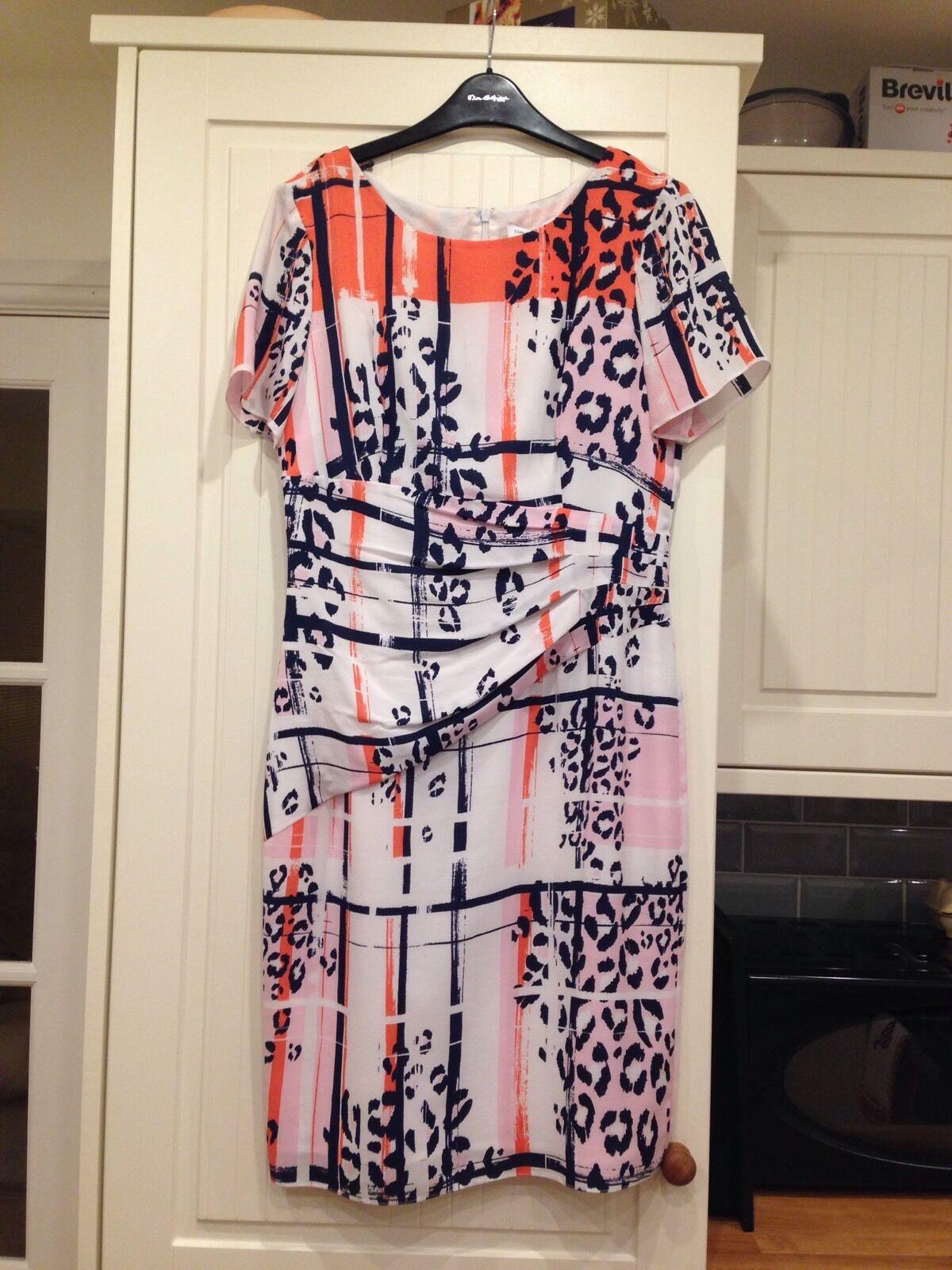 Fenn Wright Manson Silk Animal Print Dress 10 RRP  BNWT