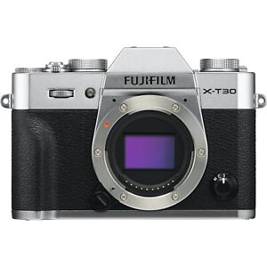 New Fujifilm X-T30 Mirrorless Digital Camera Body Silver