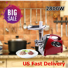 Luxury Stainless Steel 2800W Electric Meat Grinder Mincer Sausage Stuffer Red