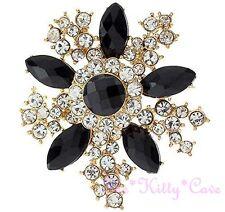 Deco Vintage Aspetto Da bouquet Fiore A Stella 14KGP Oro Spilla Pin con/