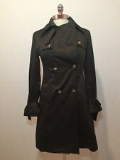 MICHAEL KORS Woman's Green Trench Coat With Wool Liner Size Small