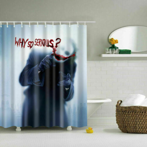 12 Hooks Waterproof Fabric Bathroom Shower Curtain Sheer Panel Decor Many Styles