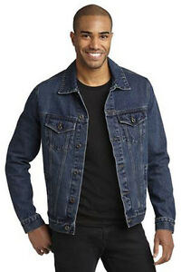 01ce46fb15b Image is loading Port-Authority-Authentic-Denim-Jacket-J7620-Size-XS-