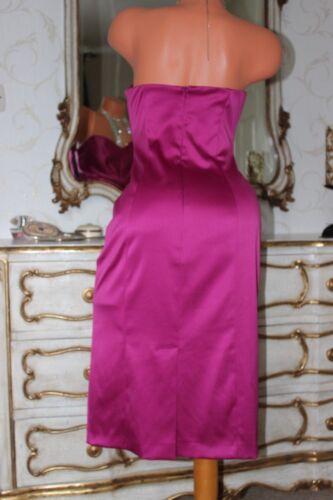 Satin Size Deep Cocktail Dress Pink 10 Wallis Shiny Boned Elasticated Faux Party qBXXvdw