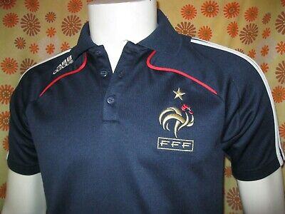 Old adidas polo maillot equipe de france fff tm? foot football jersey t shirt   eBay