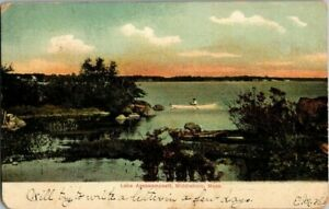 1907-MIDDLEBORO-MASS-LAKE-ASSAWAMPSETT-POSTCARD-KK2
