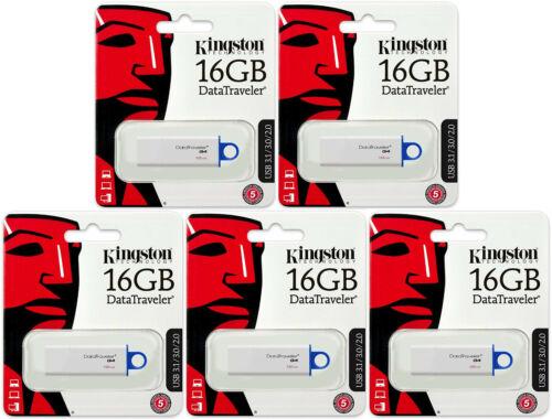 5 Pack of Kingston 16GB DataTraveler DTIG4 16G USB 3.1 Flash Drive DTIG4//16GB