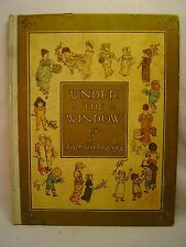 Kate Greenaway UNDER THE WINDOW Vintage reprint edition circa 1910 London