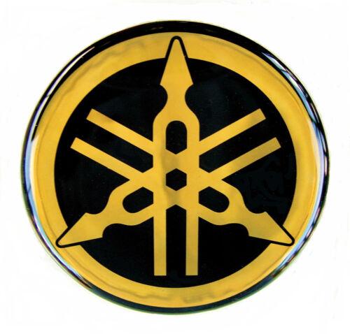 Original YAMAHA 40 mm Logo 4 cm-Emblème-Autocollant-S//OR-Emblème-simboleggia