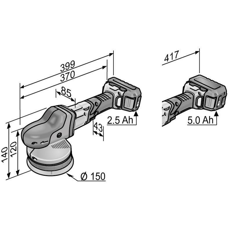 Flex Flex Flex Akku-Exzenterpolierer, XFE 15 150 18.0-EC, 2x5Ah Akkus/Ladegerät/l-Boxx 5770fd