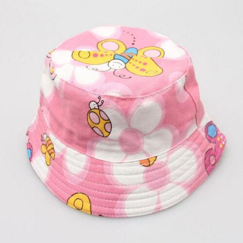 Girls Kids Baby Children Cap Flowers Decor Summer Straw Beach Sun Wide Brim Hat