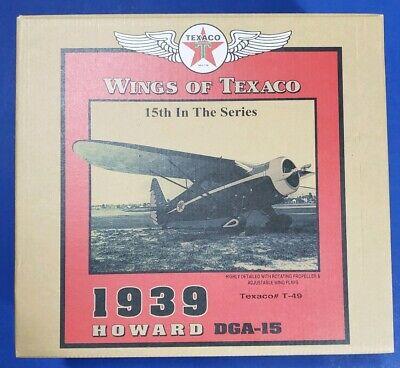 SPECIAL BRUSHED METAL Wings of Texaco 1939 HOWARD DGA-15 Diecast Airplane