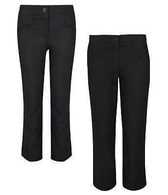 BNWT Boys Sz 12 Years BHS Pack of 2 Black Elastic Waist Dress or School Pants