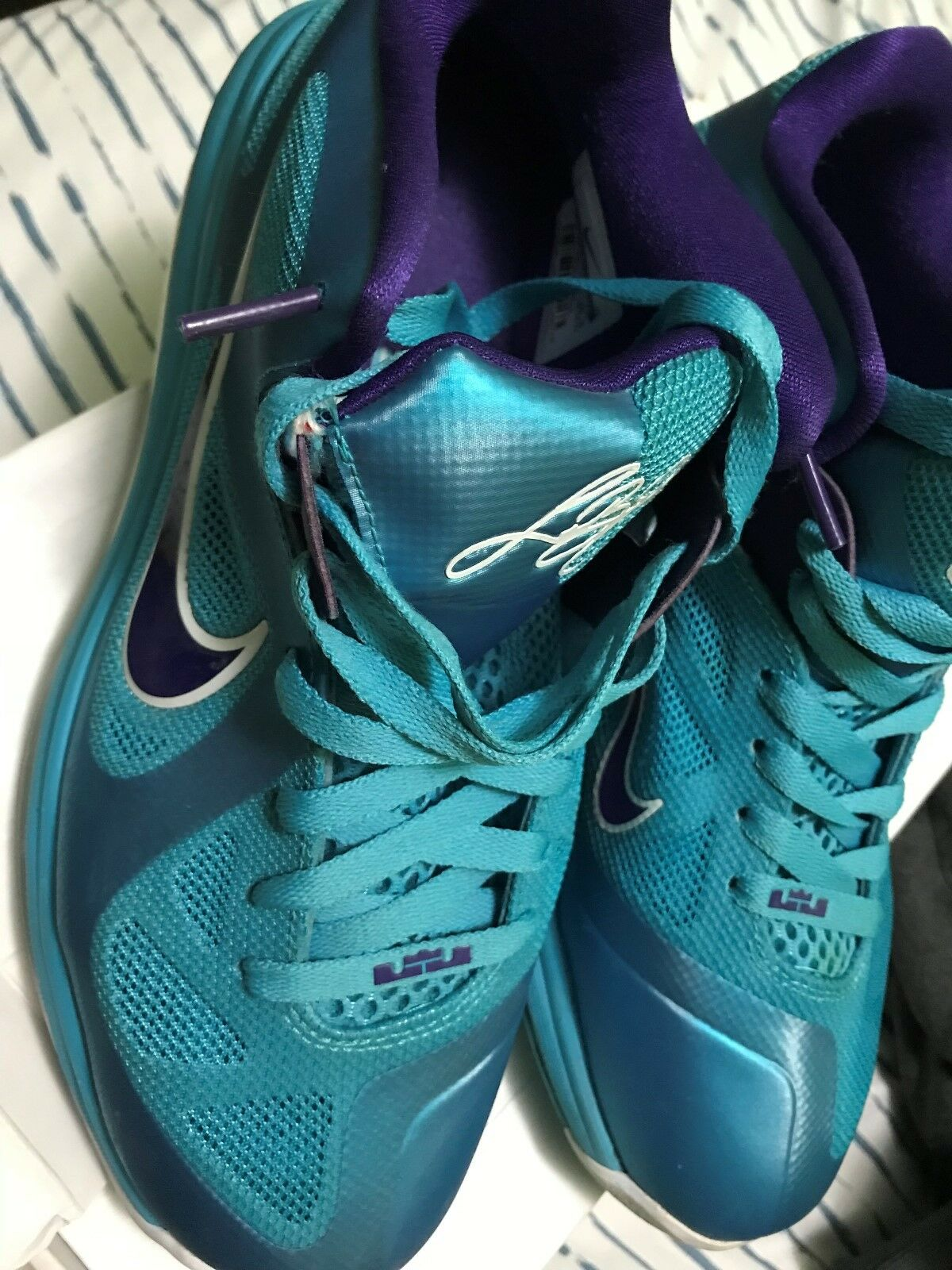 NIKE LEBRON 9 NINE LOW SUMMIT LAKE HORNETS  Size 8.5