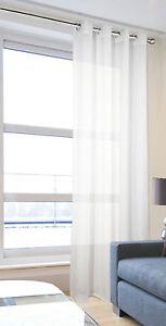 Pliegue-suave-Moderno-Blanco-Liso-Voile-Ojales-Voile-Panel-de-cortina-de-red-ringtop