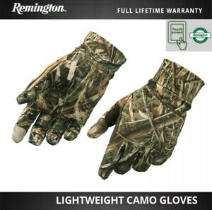 Remington Lightweight Real Tree Camo Hunting Gloves Finger Grip Palm