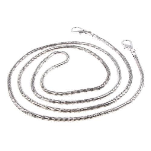 Bag Chain Strap Replacement Metal Snake Chain for Handbag Crossbody Bag 1.2m
